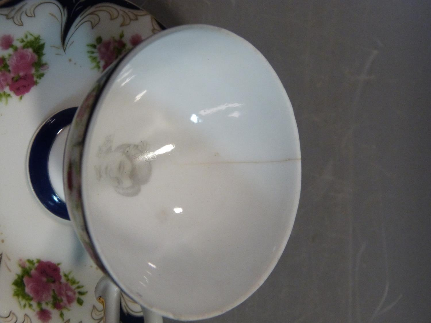 A ceramic Malaysian tea set and a pair of porcelain tea cups and saucers. The tea cups have a - Image 15 of 15