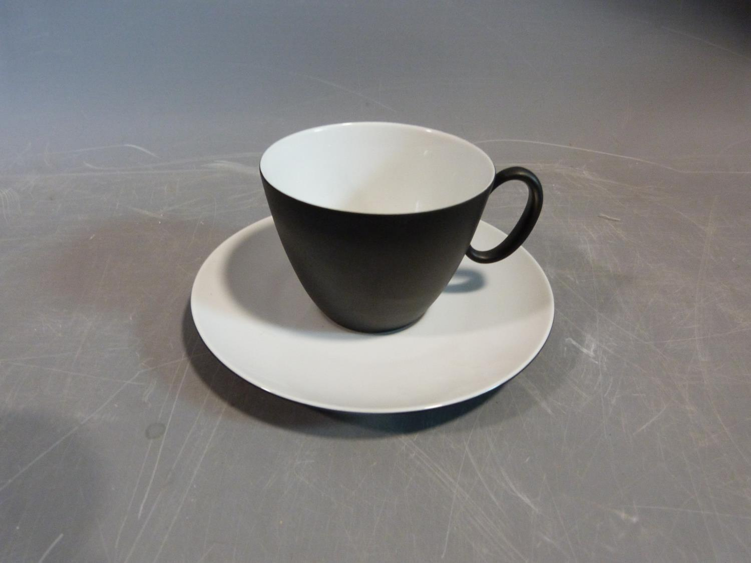 A Raymond Loewy 'Charcoal' Continental tea service. Tallest H12cm. - Image 10 of 12