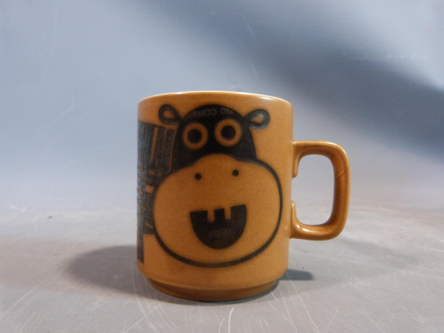 A collection of 1970's Hornsea mugs designed by John Clappison, a studio pottery vase and three - Image 19 of 22