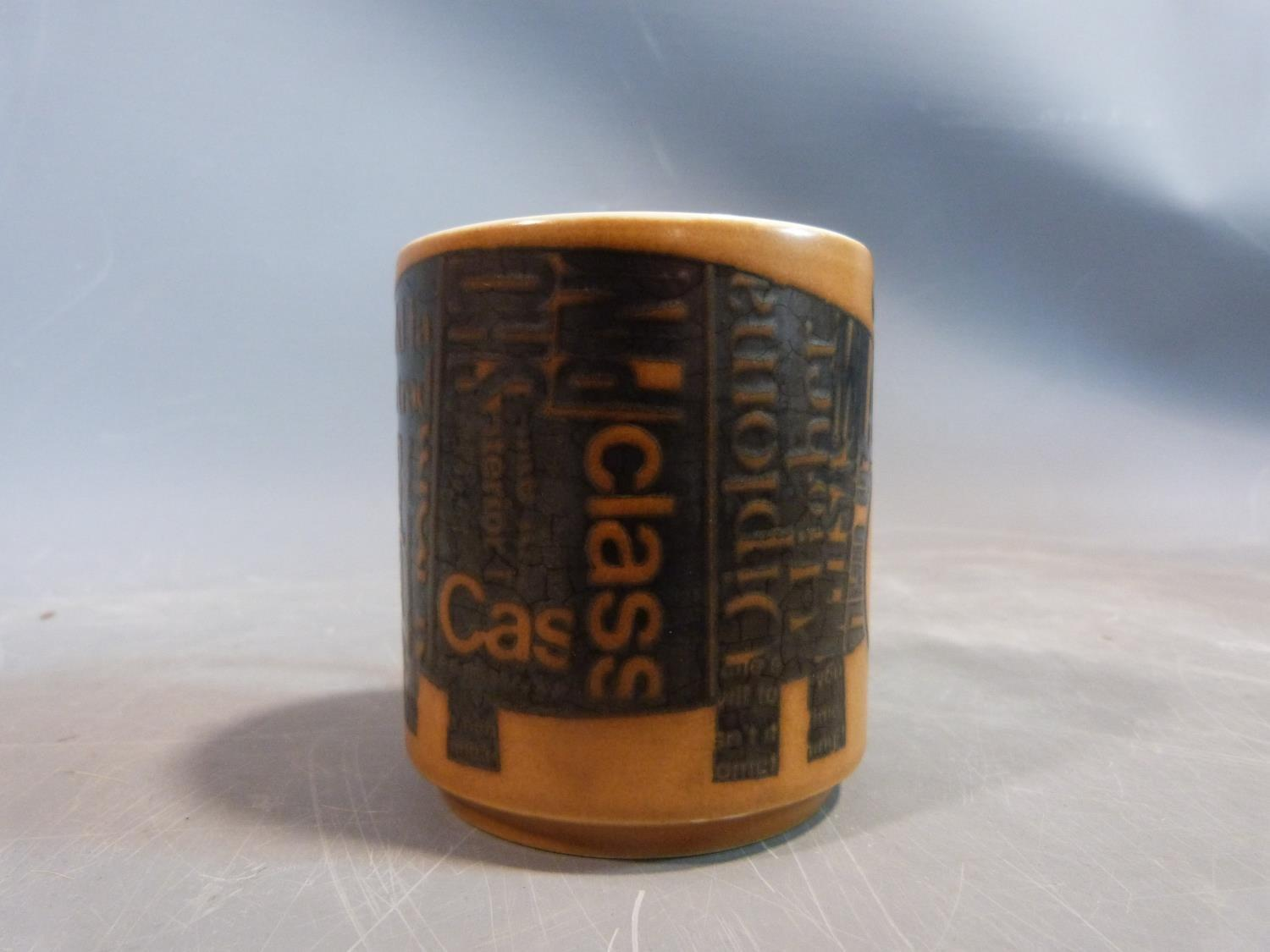 A collection of 1970's Hornsea mugs designed by John Clappison, a studio pottery vase and three - Image 20 of 22