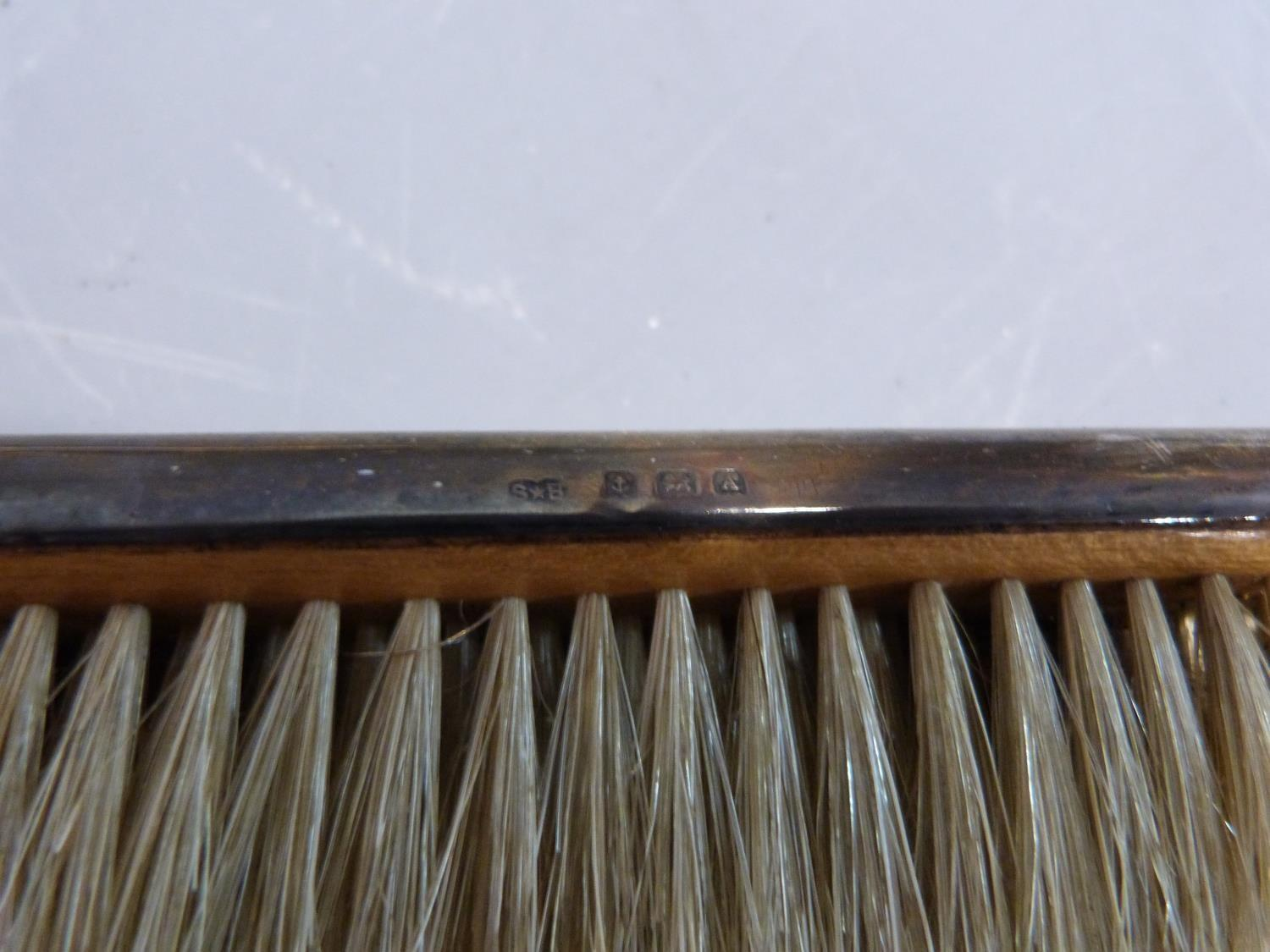 Cased silver brush set and silver plate items. Hallmarked: 1925, Birmingham, S star B for Synyer & - Image 12 of 27