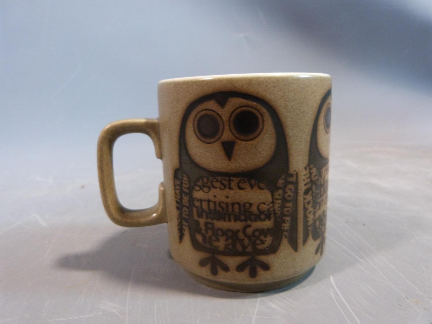 A collection of 1970's Hornsea mugs designed by John Clappison, a studio pottery vase and three - Image 12 of 22