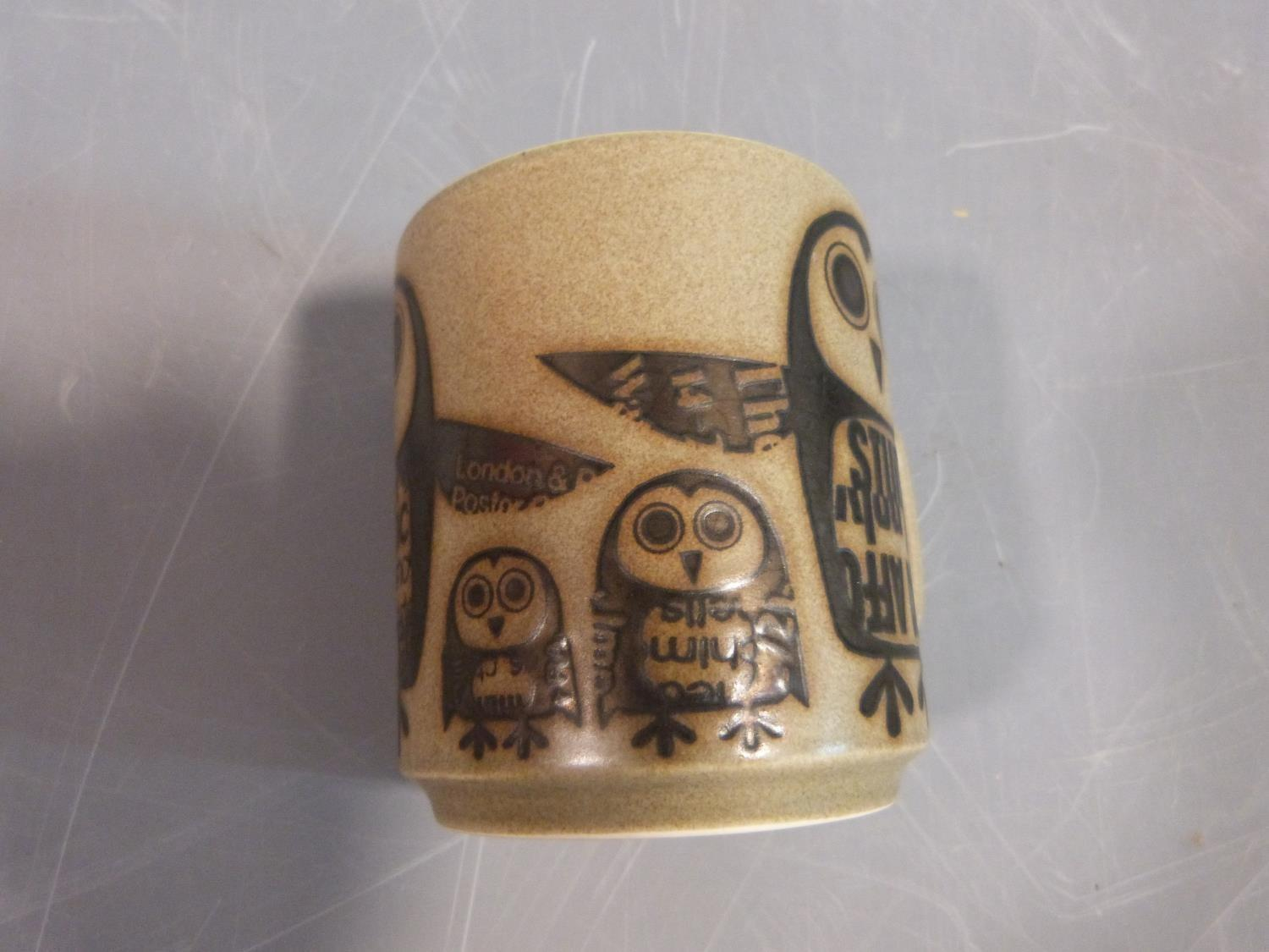 A collection of 1970's Hornsea mugs designed by John Clappison, a studio pottery vase and three - Image 17 of 22