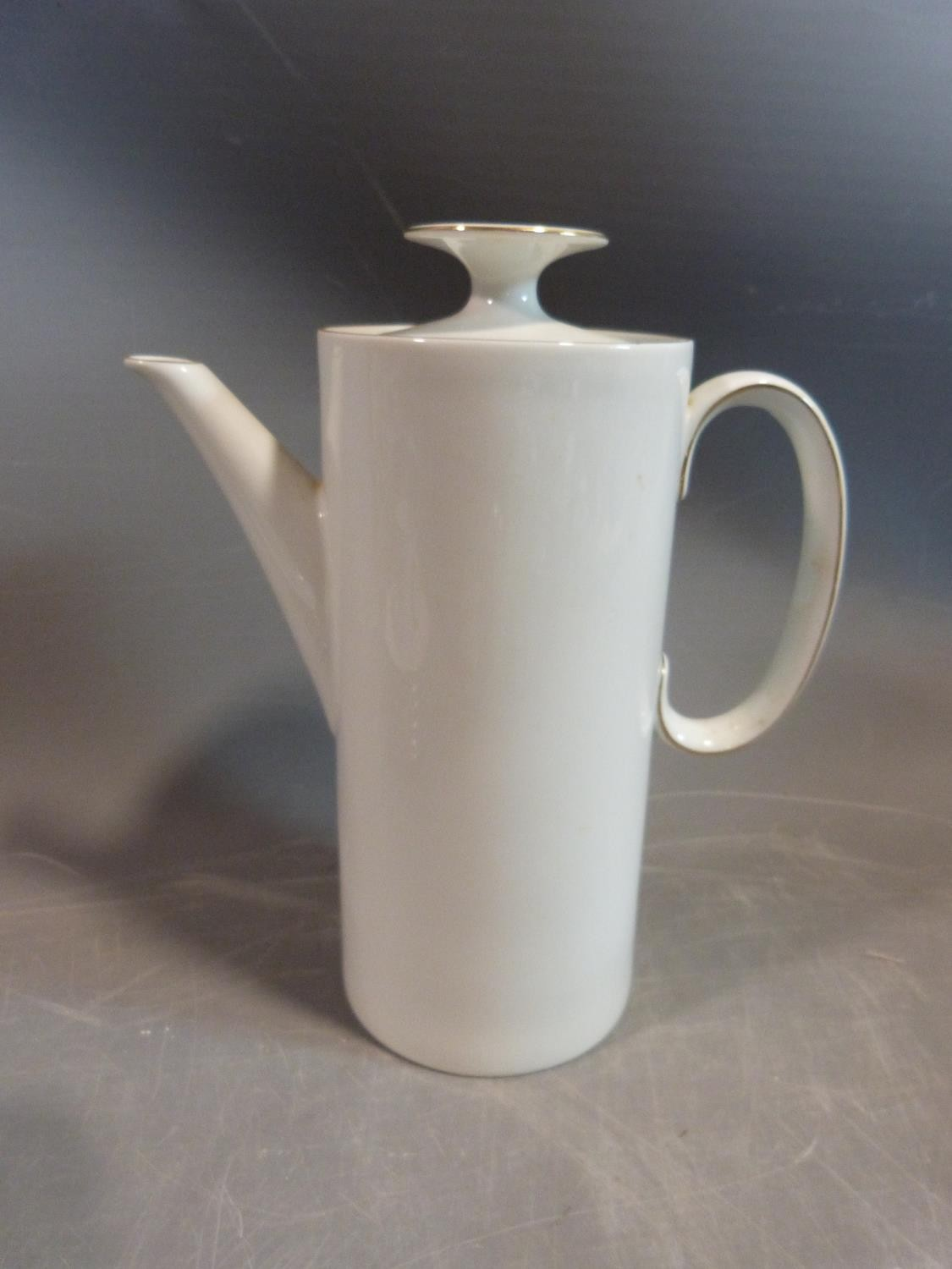 A white porcelain Thomas Germany gilded coffee set. H 22.5cm. - Image 2 of 9