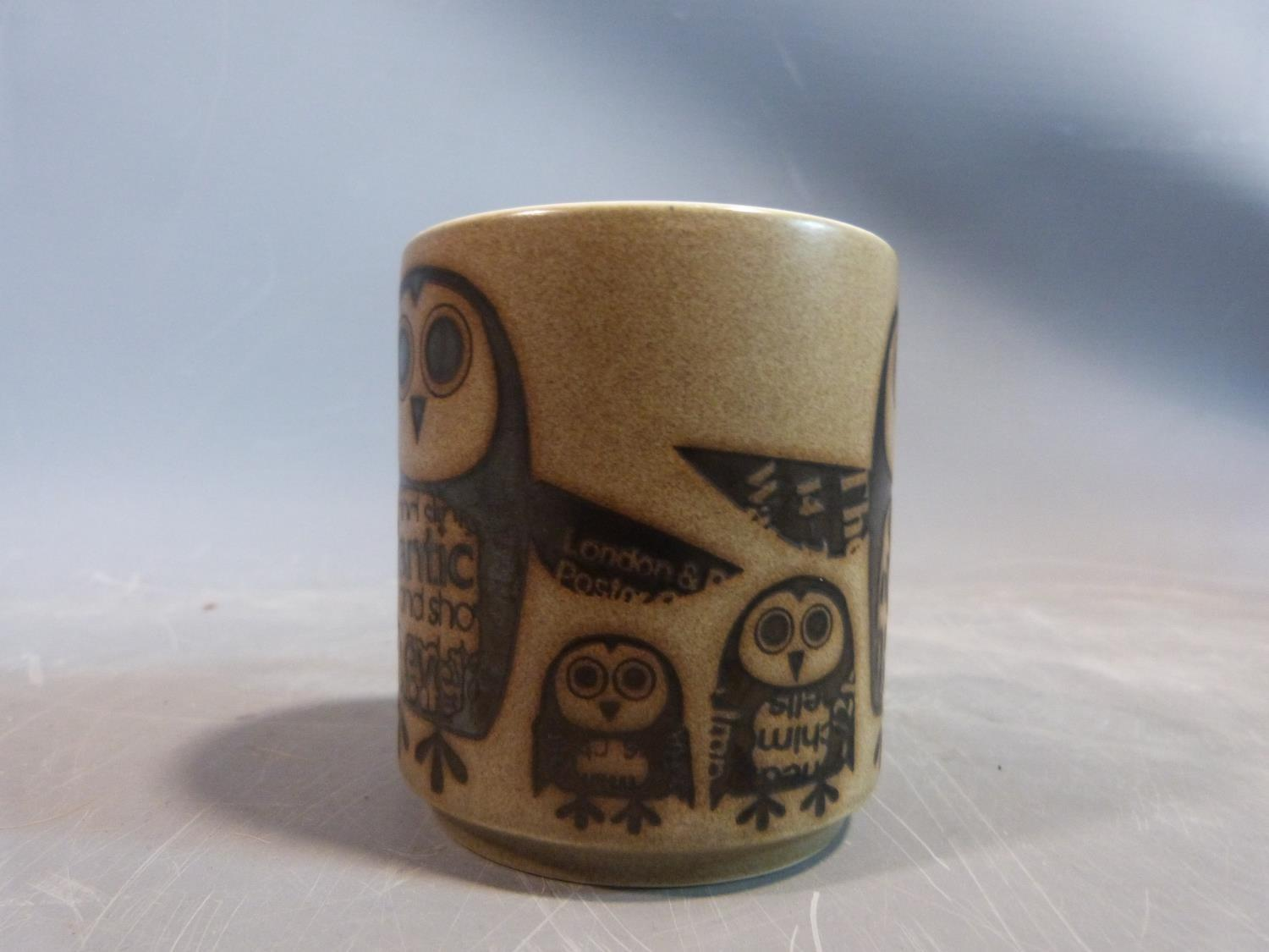 A collection of 1970's Hornsea mugs designed by John Clappison, a studio pottery vase and three - Image 13 of 22