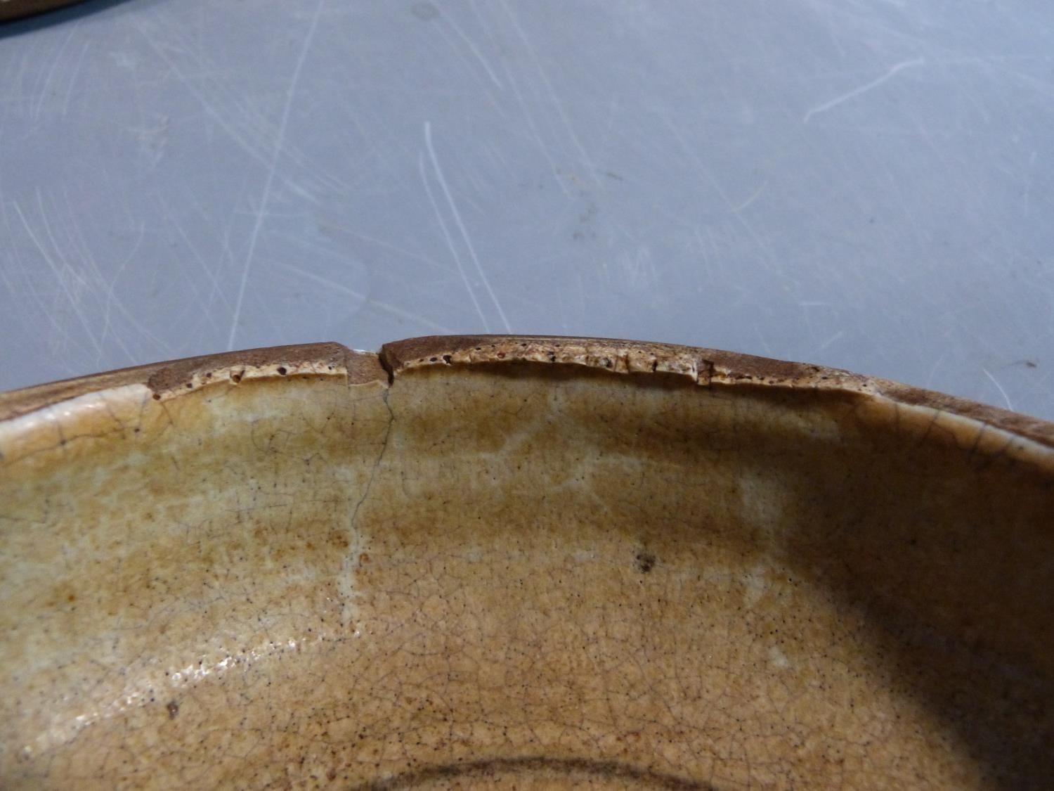 a studio pottery lidded pot and ramakin holder. The lidded two handled pot has an impressed cross - Image 5 of 14