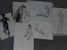 A portfolio of sketches from students and staff at Macedonia University. H.31xW.43cm
