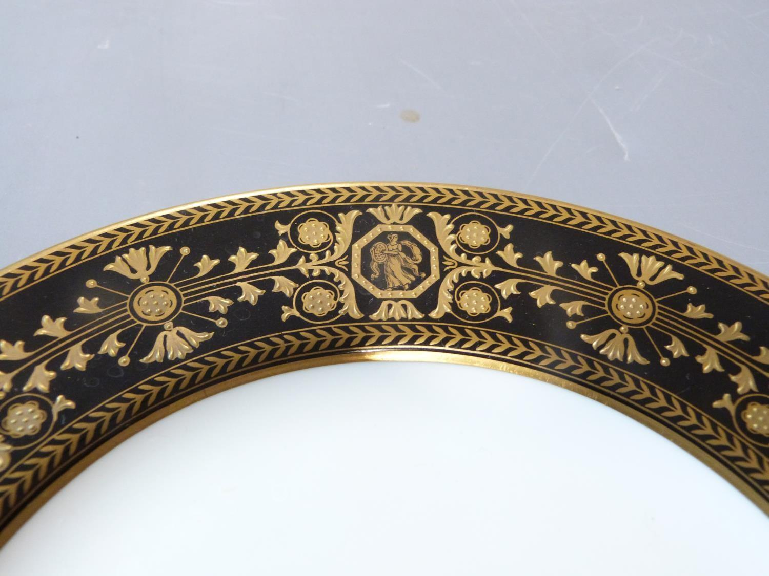 An early 20th century Wedgwood Black Astbury pattern part dinner service. This pattern is - Image 8 of 19