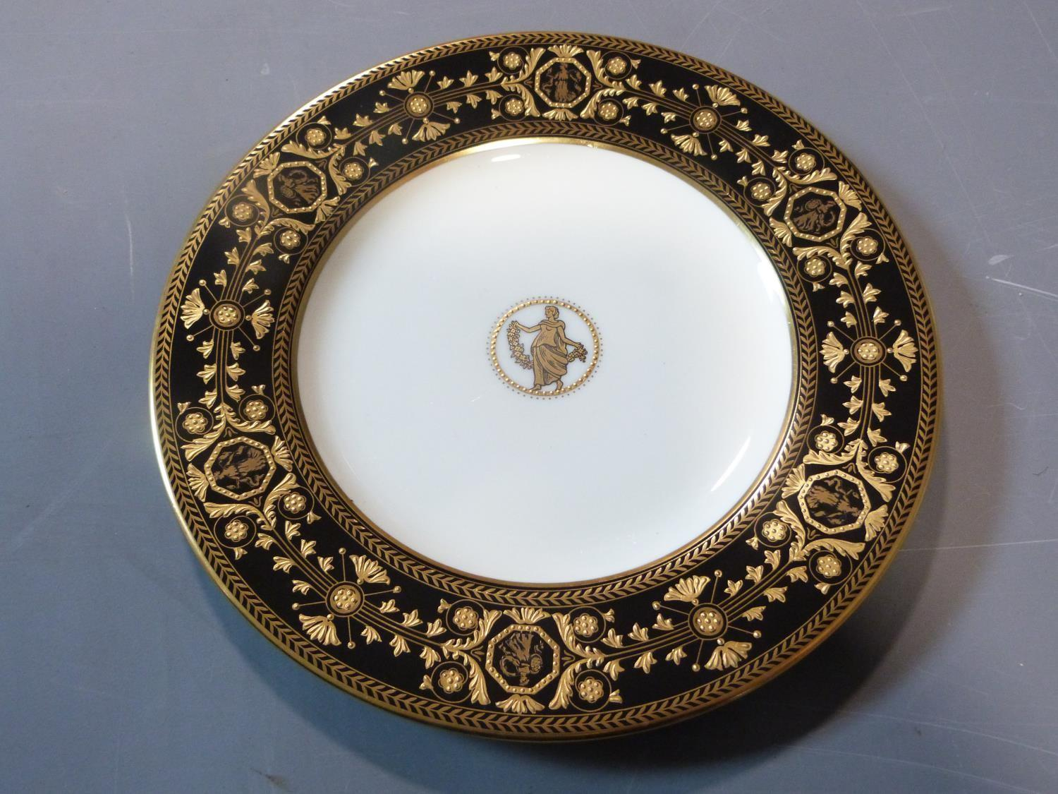An early 20th century Wedgwood Black Astbury pattern part dinner service. This pattern is - Image 12 of 19