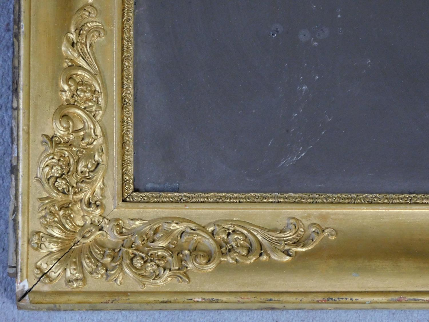 A very large early 19th century gilt framed and gesso moulded pier mirror with its original glass - Image 3 of 9