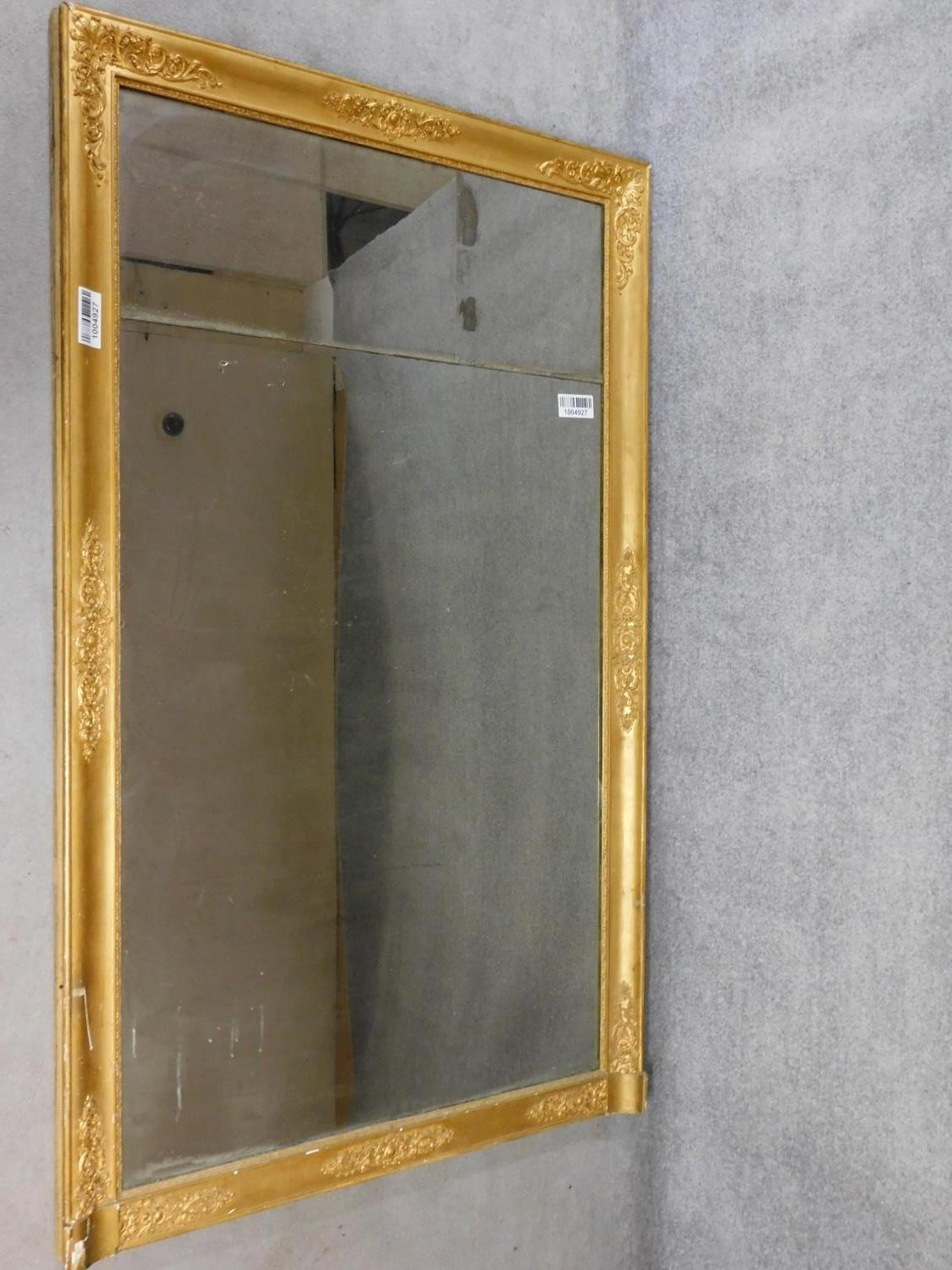 A very large early 19th century gilt framed and gesso moulded pier mirror with its original glass - Image 2 of 9