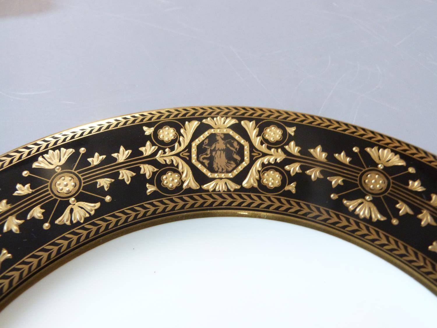An early 20th century Wedgwood Black Astbury pattern part dinner service. This pattern is - Image 13 of 19