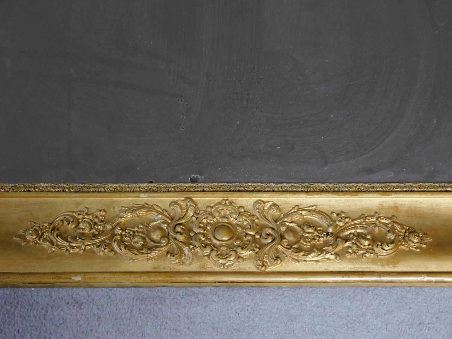 A very large early 19th century gilt framed and gesso moulded pier mirror with its original glass - Image 4 of 9