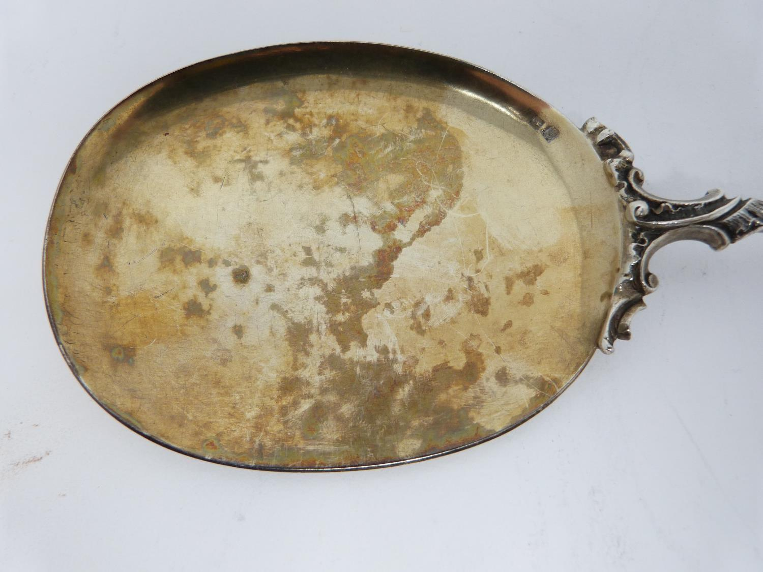 An antique gilded German silver ice cream serving set. Comprising of an ice cream slice and - Image 5 of 12