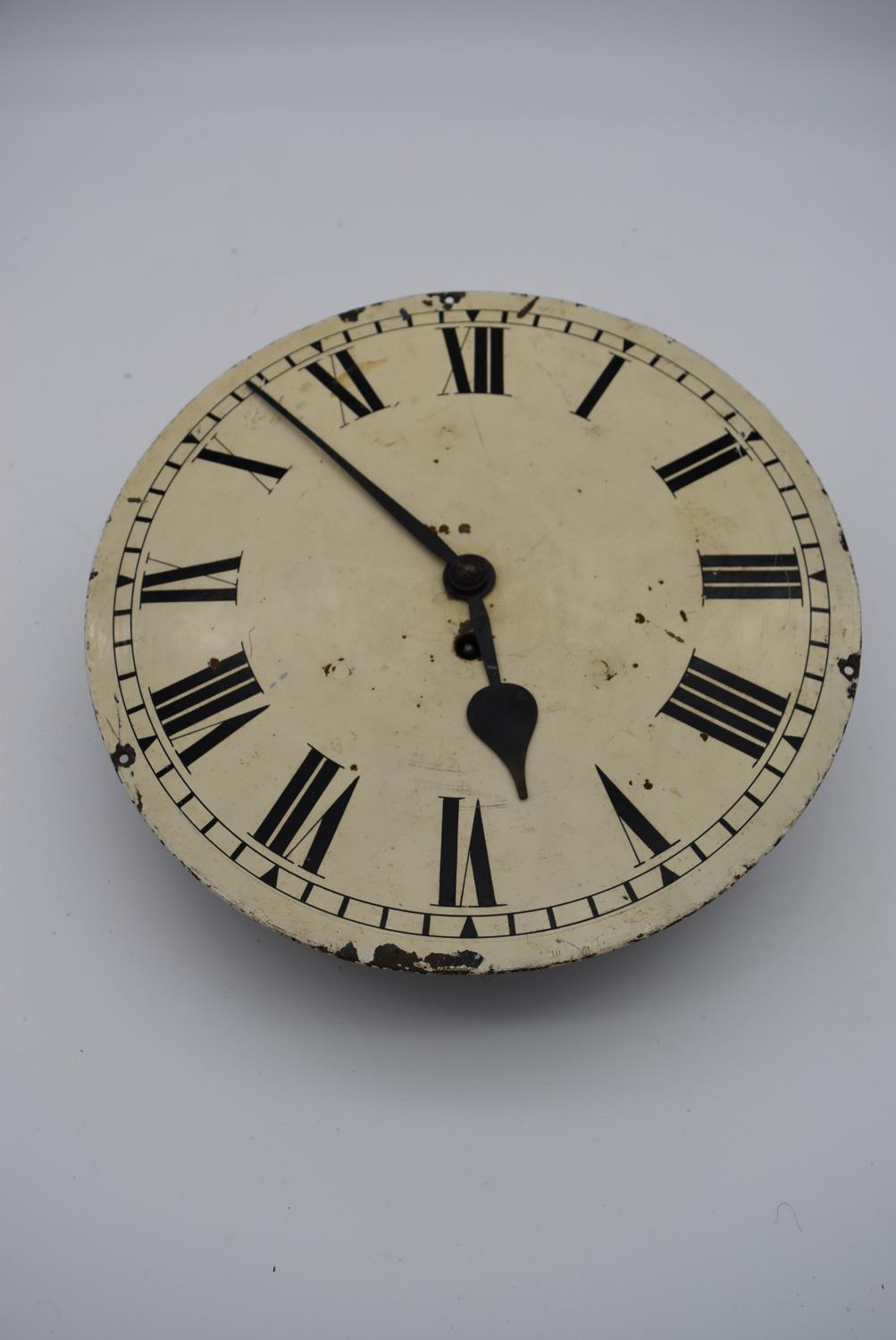 A 19th century mahogany cased drop dial wall clock, Geo Hammer and Co, a dial clock face and - Image 9 of 10