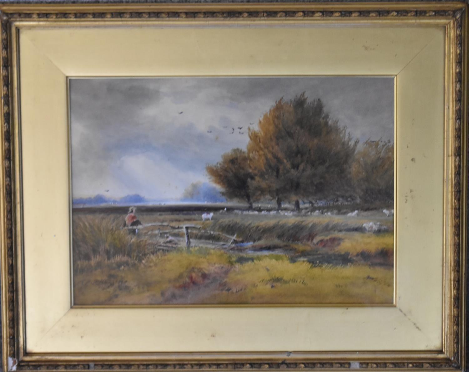 A collection of five various framed and glazed watercolours, riverscapes and landscapes. H.40x50cm - Image 9 of 13