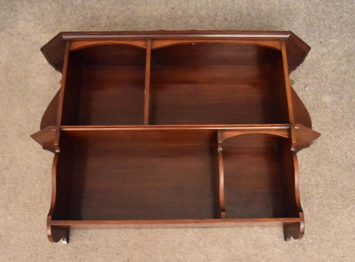 A set of Victorian mahogany open wall shelves H.73x73x15cm - Image 2 of 3