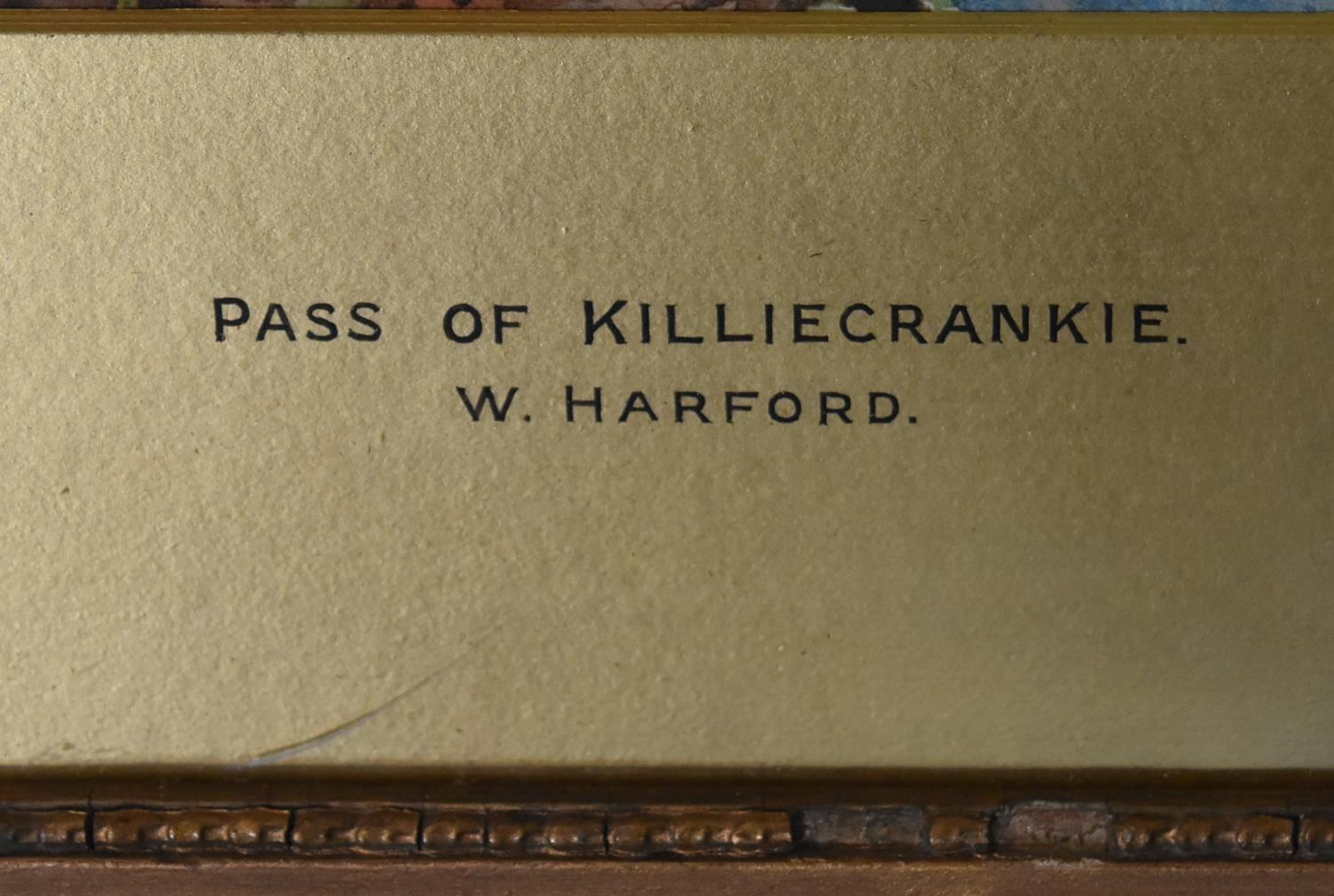 A framed and glazed watercolour; The Pass of Killliecrancie by W. Harford and two other framed and - Image 7 of 9
