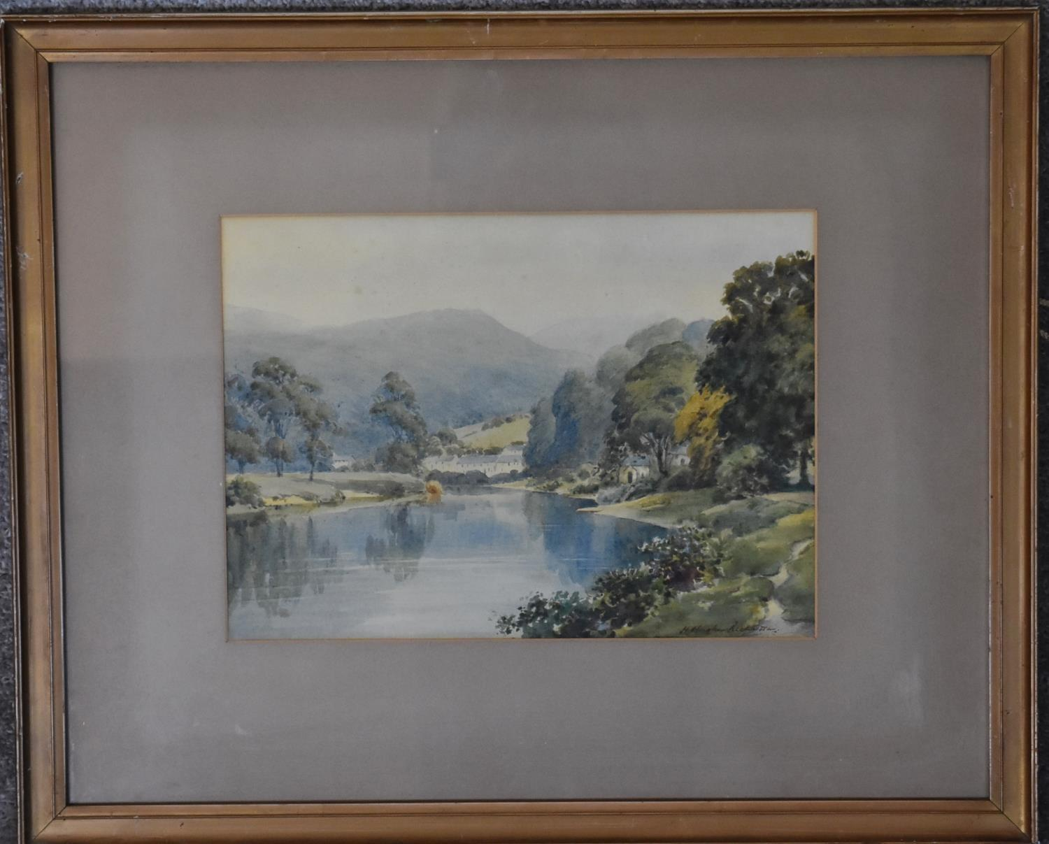 A framed and glazed watercolour; The Pass of Killliecrancie by W. Harford and two other framed and - Image 3 of 9