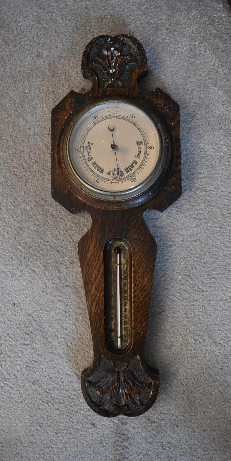An early 19th century rosewood cased stick barometer and a miscellaneous collection of five late - Image 8 of 9