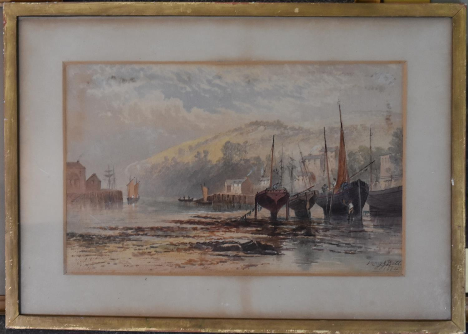 A framed and glazed watercolour; The Pass of Killliecrancie by W. Harford and two other framed and - Image 2 of 9