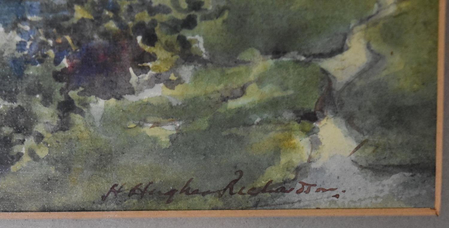 A framed and glazed watercolour; The Pass of Killliecrancie by W. Harford and two other framed and - Image 4 of 9