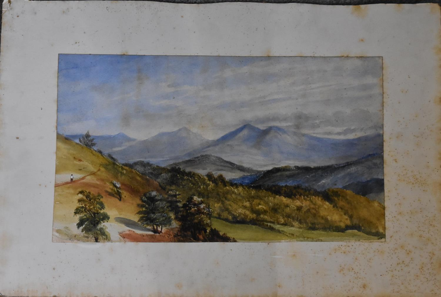 A collection of eight unframed watercolours. H.40x50cm (largest) - Image 9 of 14