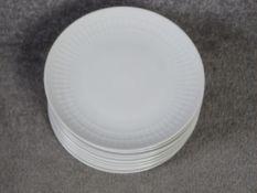 A set of eight vintage Bavarian Markleuthen Winterling diamond relief design porcelain dinner