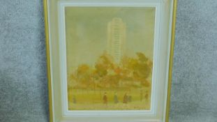 A framed oil on canvas by British artist Mona Killpack (16 March 1918 ? 6 May 2009). Titled 'The