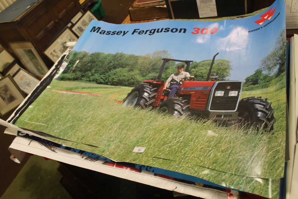 Lot 42 - A QUANTITY OF TRACTOR POSTERS TO INCLUDE MASSEY FERGUSON 300