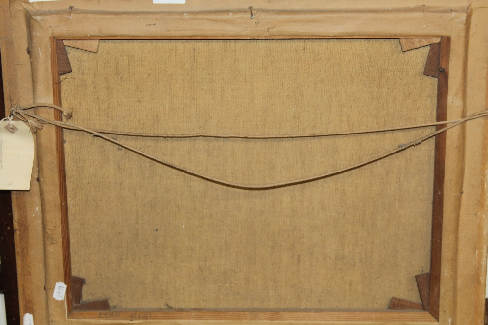 Lot 56 - A. H. NORDBERG, OIL ON CANVAS OF COASTAL SAND DUNES, signed lower left, 50 x 59 cm including frame