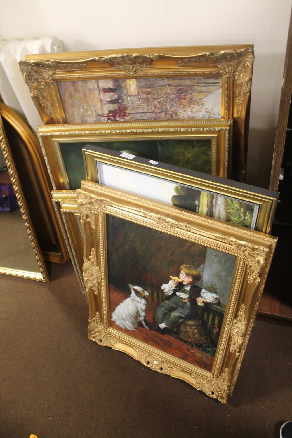 Lot 49 - A QUANTITY OF ASSORTED OIL PAINTINGS TO INCLUDE GILT FRAMED EXAMPLES