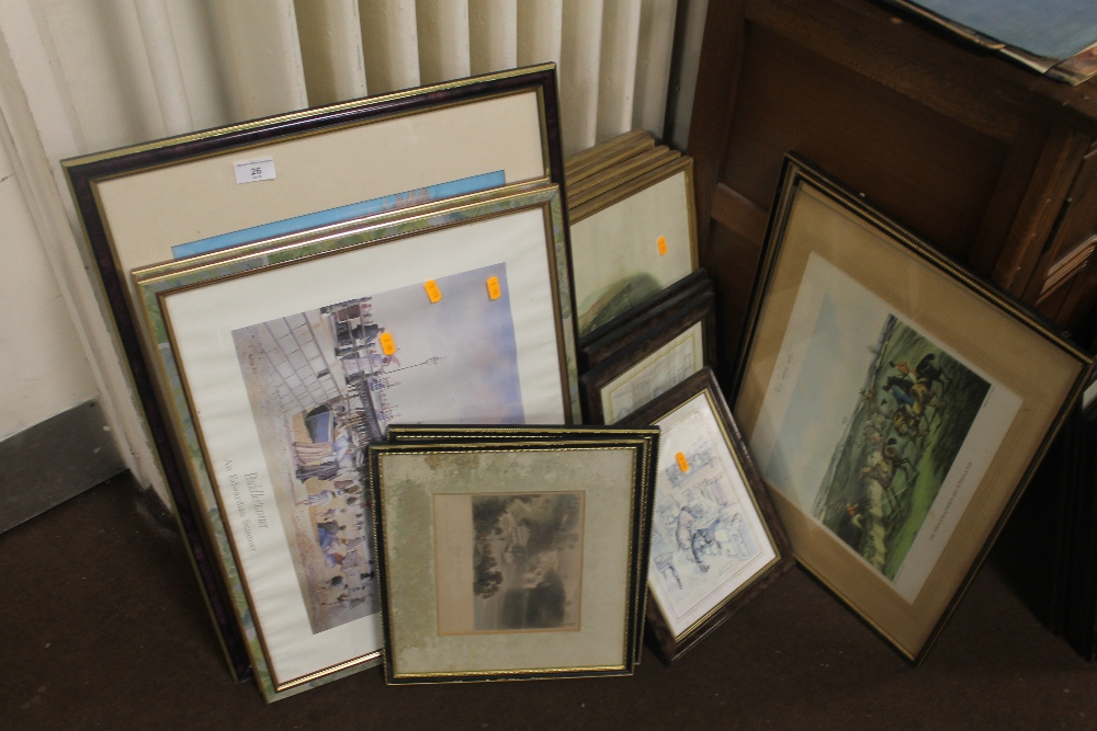 Lot 26 - A QUANTITY OF ASSORTED PICTURES AND PRINTS