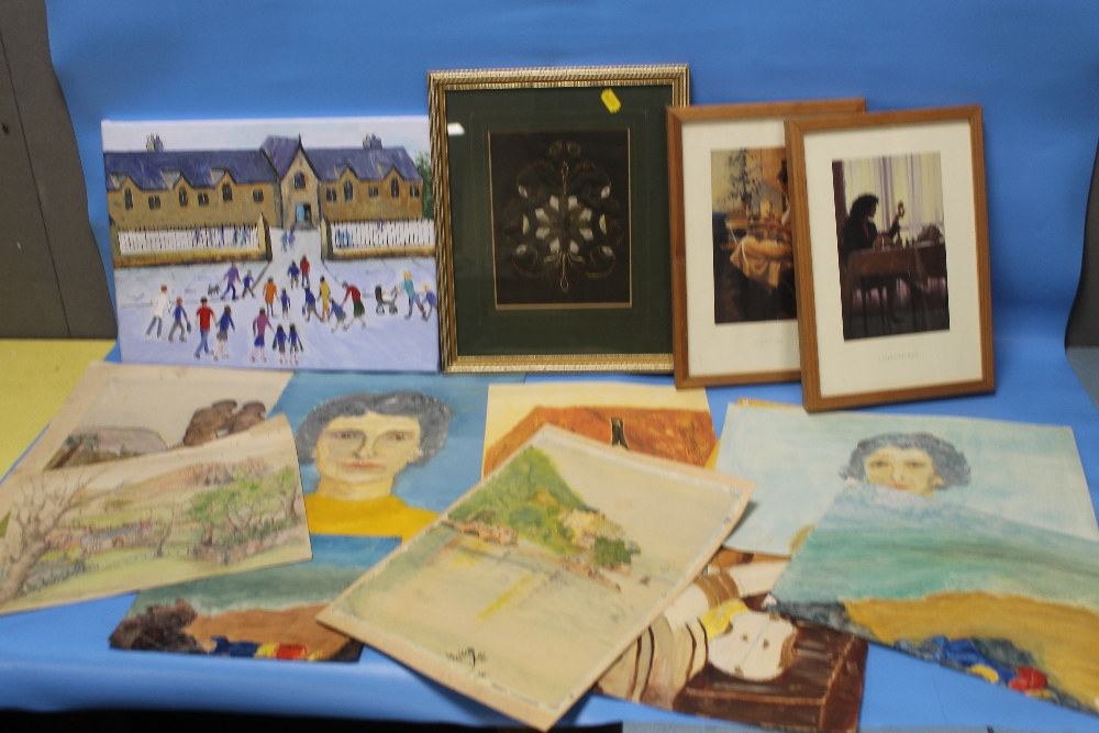 Lot 6 - A COLLECTION OF ASSORTED PICTURES, PRINTS INCLUDING PAINTINGS