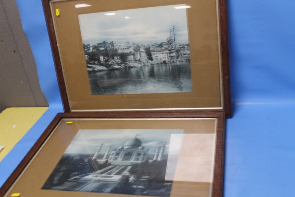 Lot 10 - BRITISH INDIA- CLIFTON TO BOMBAY PHOTOGRAPHIC PRINTS, one of the Taj Mahal the other a Riverside