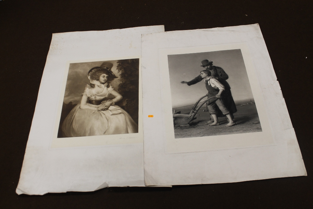 Lot 41 - THOMAS G. APPLETON - A LARGE PORTRAIT ENGRAVING OF A LADY IN A HAT published by Reynolds & Co.
