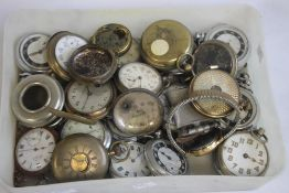 A COLLECTION OF ASSORTED POCKET WATCHES AND PARTS, to include some pair cased examples A/F