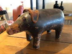 OMERSA FOR LIBERTY'S - AN ORIGINAL 1950S LARGE PIG FOOTSTOOL BY DIMITIRI OMERSA FOR LIBERTY OF