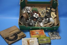 A BOX OF COLLECTABLES
