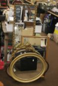A QUANTITY OF ASSORTED MIRRORS