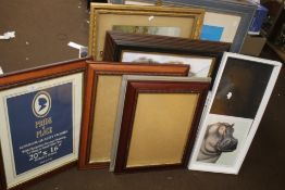 A QUANTITY OF ASSORTED PICTURES, FRAMES ETC.