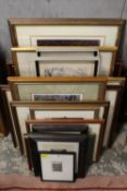 A QUANTITY OF SIGNED PRINTS, ETCHINGS ETC.