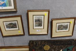 THREE SMALL SIGNED COLOURED ETCHINGS OF SALZBURG