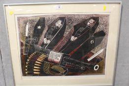 A SIGNED WAR INTEREST ARTISTS PROOF LITHOGRAPH BY KEN SPRAGUE