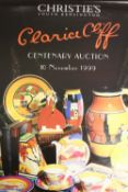 CLARICE CLIFF. A Christie's Clarice Cliff poster for the Centenary auction 10th November 1999,
