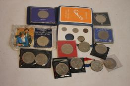 A COLLECTION OF ASSORTED COINS, to include Bermuda 1970 first decimal coin set, Queen Mother Five