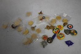 """A COLLECTION OF VINTAGE BADGES, to include club types for """"'Trex Club""""', """"'Swift Club""""', """"'Jaffa Fun"""