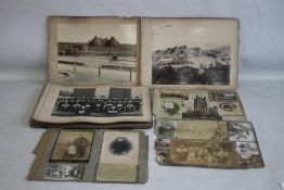 YORK AND LANCASTER REGIMENT INTEREST, a late Victorian / Edwardian photograph album containing a