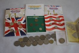A COLLECTION OF UNCIRCULATED SETS & COMMEMORATIVE CROWNS, to include a quantity of £5 coins & a