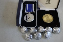 POLICE LOG SERVICE AND GOOD CONDUCT MEDAL, West Midlands Police 2002 Queens Golden Jubilee Medal and